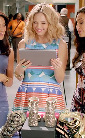 Heather's striped and polka dot dress on Daytime Divas