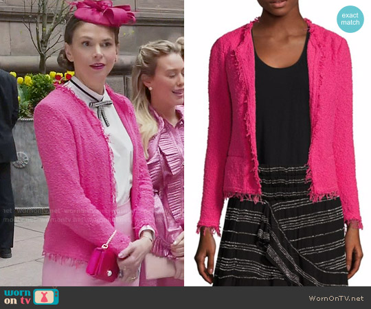 IRO Shavani Jacket in Hot Pink worn by Sutton Foster on Younger