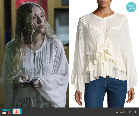 IRO Stockett Top worn by Maddie Jaymes (Lennon Stella) on Nashville