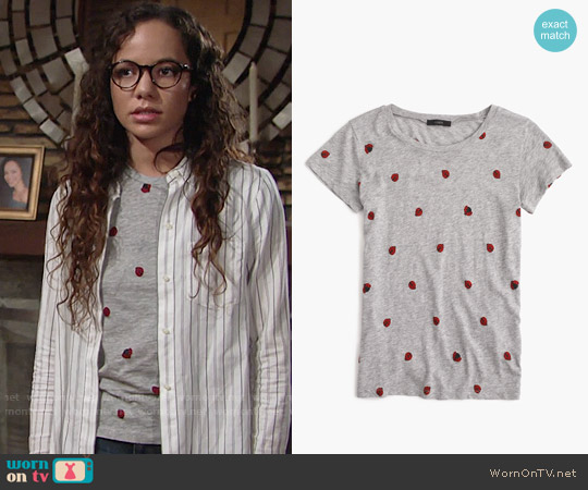 J. Crew Ladybug T-shirt worn by Mattie Ashby (Lexie Stevenson) on The Young & the Restless