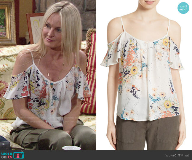 Joie Adorlee Blouse worn by Sharon Case on The Young & the Restless