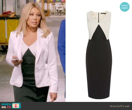 Karen Millen Colorblock Pencil Dress worn by Maxine Robinson (Vanessa Williams) on Daytime Divas