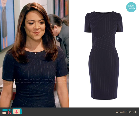 Karen Millen Pinstripe Dress worn by Nina Sandoval (Camille Guaty) on Daytime Divas