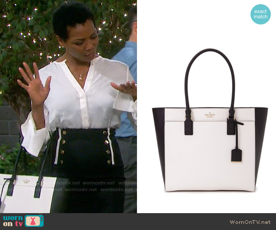 Kate Spade Cameron Street Havana Bag worn by Valerie Grant on Days of our Lives