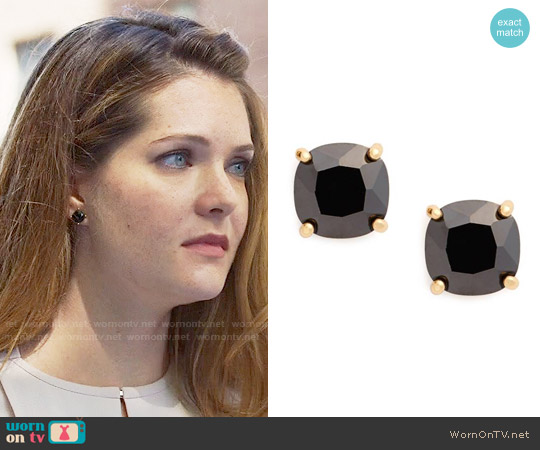 Kate Spade Mini Square Stud Earrings worn by Meghann Fahy on The Bold Type