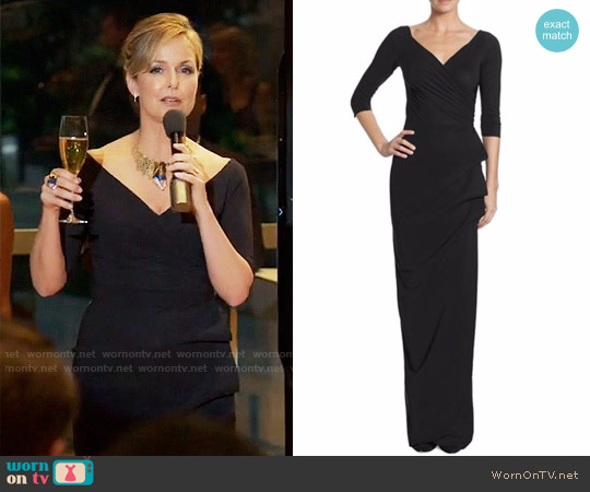 La Petite Robe di Chiara Boni Florien Ruched Ruffled Gown worn by Melora Hardin on The Bold Type