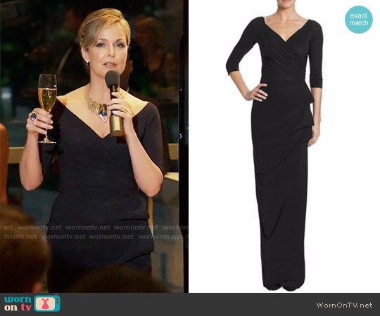 La Petite Robe di Chiara Boni Florien Ruched Ruffled Gown worn by Jacqueline (Melora Hardin) on The Bold Type