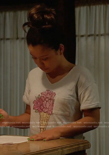 Mariana's flower ice cream top on The Fosters