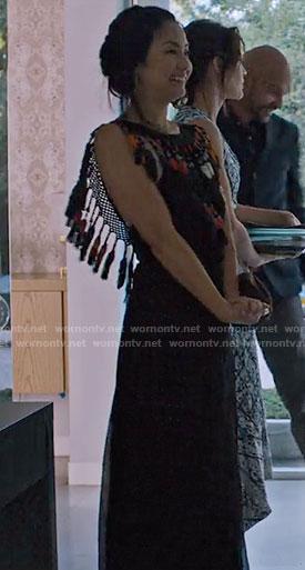 Marianne's tassel trim maxi dress on Friends from College