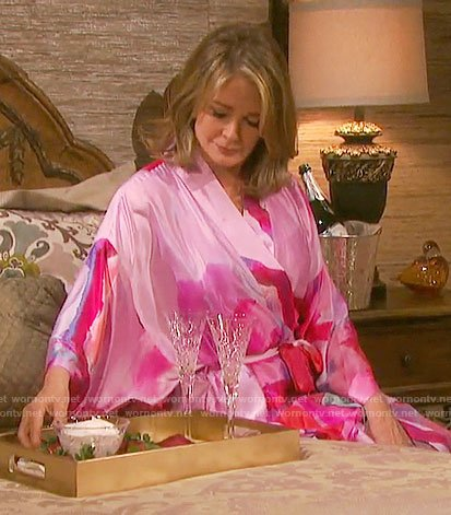 Marlena's pink robe on Days of our Lives