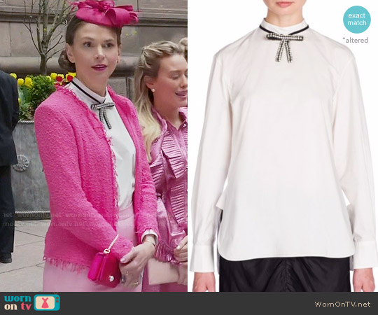 Marni Embellished Bow Detail Poplin Shirt worn by Liza Miller on Younger