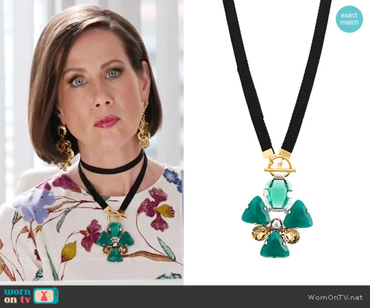 Marni Clover Motif Necklace worn by Diana Trout on Younger