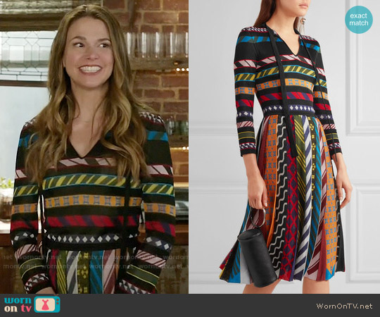 Mary Katrantzou Faye Dress worn by Sutton Foster on Younger