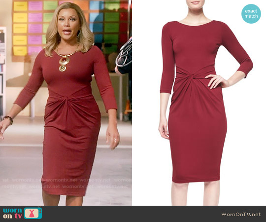 Michael Kors Collection 3/4-Sleeve Twist-Front Sheath Dress worn by Vanessa Williams on Daytime Divas