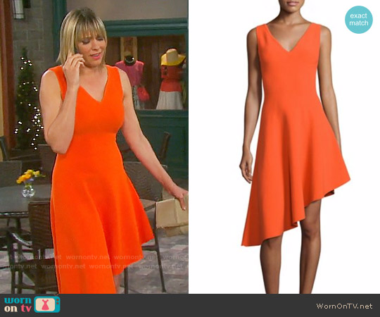 Milly Asymmetrical Hem Dress worn by Nicole Walker (Arianne Zucker) on Days of our Lives
