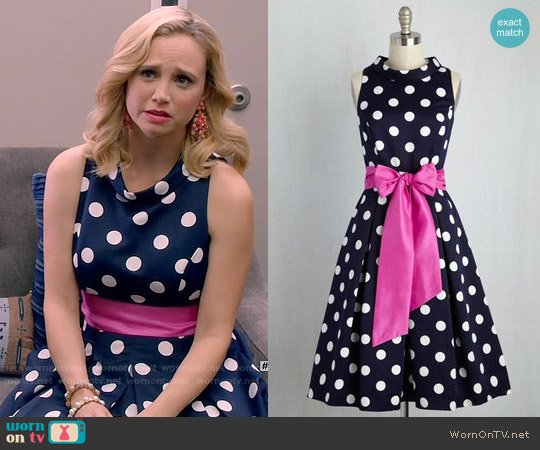 ModCloth Refined Finesse Dress worn by Fiona Gubelmann on Daytime Divas