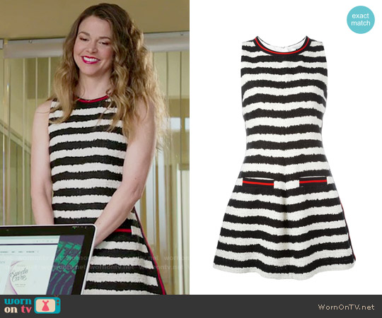 MSGM Striped Dress worn by Sutton Foster on Younger