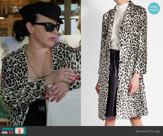 Nina Ricci Printed Coat with Silk worn by Maggie (Debi Mazar) on Younger
