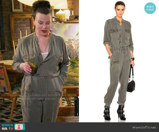 NSF Miche Jumpsuit worn by Maggie (Debi Mazar) on Younger