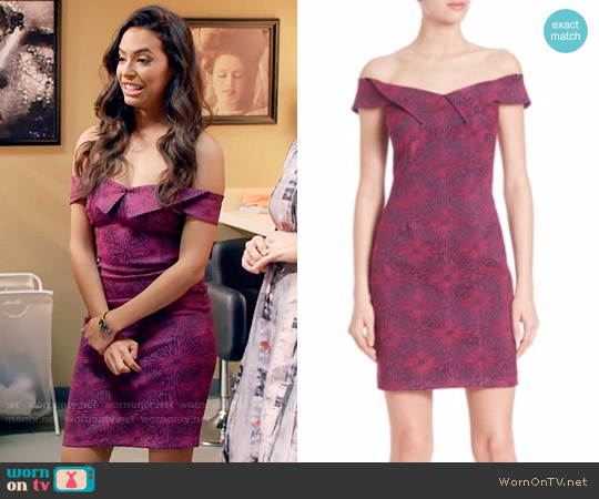 Opening Ceremony Floral Print Sheath Dress worn by Chloe Bridges on Daytime Divas