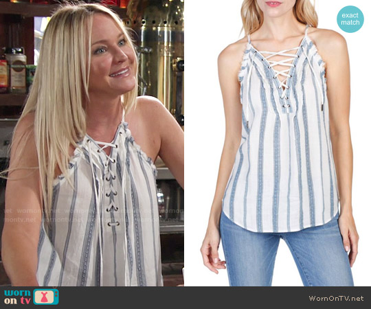 Paige Bria Tank worn by Sharon Case on The Young & the Restless