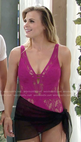 Phyllis's pink lace swimsuit on The Young and the Restless