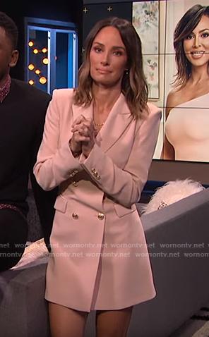 Catt's pink blazer dress on E! News