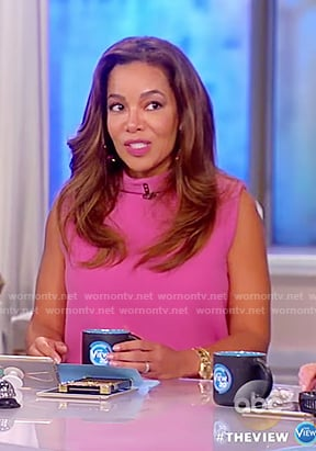 Sunny's pink cowl neck dress on The View