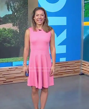 Ginger's pink sleeveless dress on Good Morning America