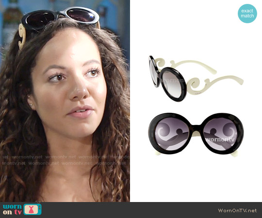 Prada Baroque Sunglasses worn by Lexie Stevenson on The Young & the Restless