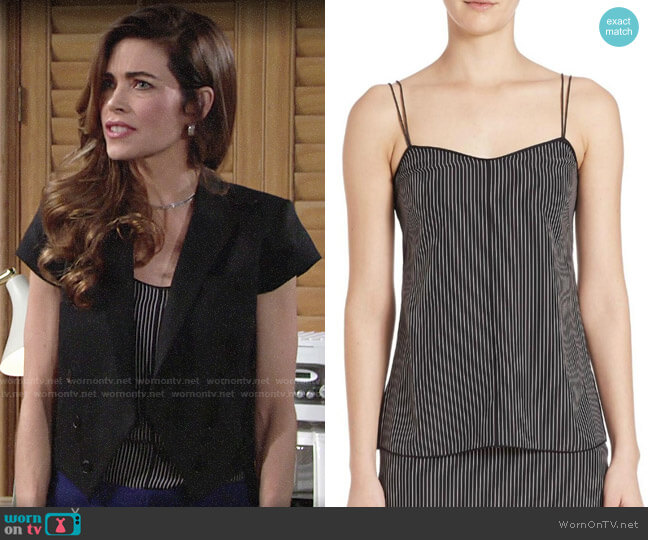 Rag & Bone Patti Striped Camisole worn by Victoria Newman (Amelia Heinle) on The Young & the Restless