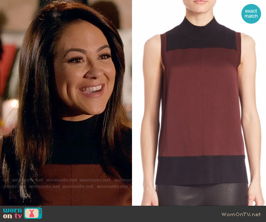 Rag & Bone Vivienne Top in Port worn by Nina Sandoval (Camille Guaty) on Daytime Divas