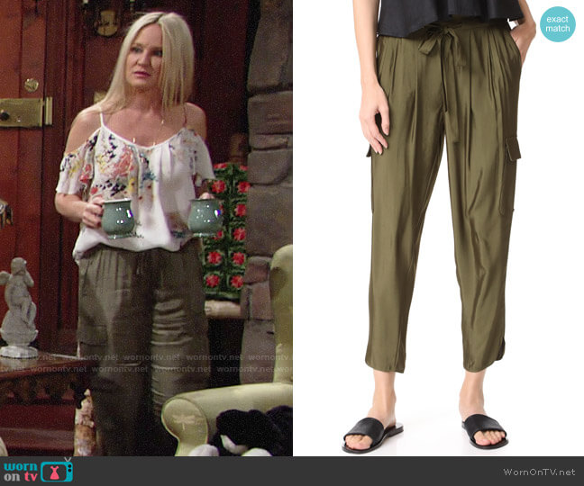Ramy Brook Allyn Cargo Pants worn by Sharon Case on The Young & the Restless