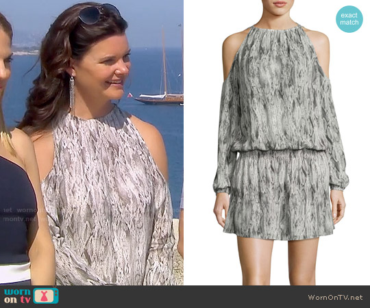 Ramy Brook Lauren Snakeskin Dress worn by Heather Tom on The Bold & the Beautiful