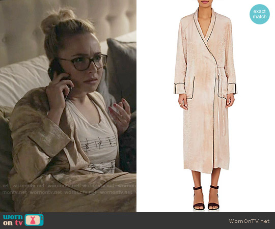 Raquel Allegra Silk Jacquard Wrap Dress worn by Hayden Panettiere on Nashville