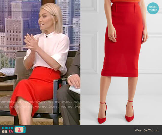 'Arreton' Skirt by Roland Mouret worn by Kelly Ripa on Live with Kelly & Ryan