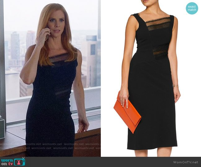 Roland Mouret Clairvale Dress worn by Sarah Rafferty on Suits