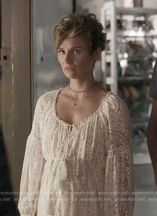 Scarlett's white lace dress on Nashville