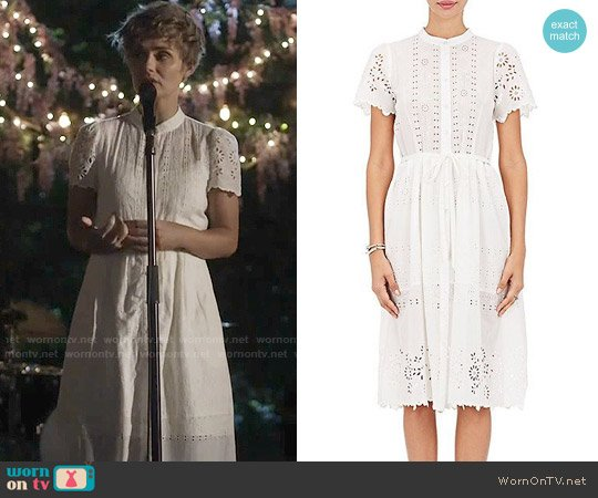 Sea Cotton Eyelet Belted Shirtdress worn by Clare Bowen on Nashville