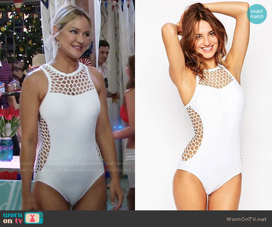 Seafolly Mesh About Swimsuit worn by Sharon Case on The Young & the Restless