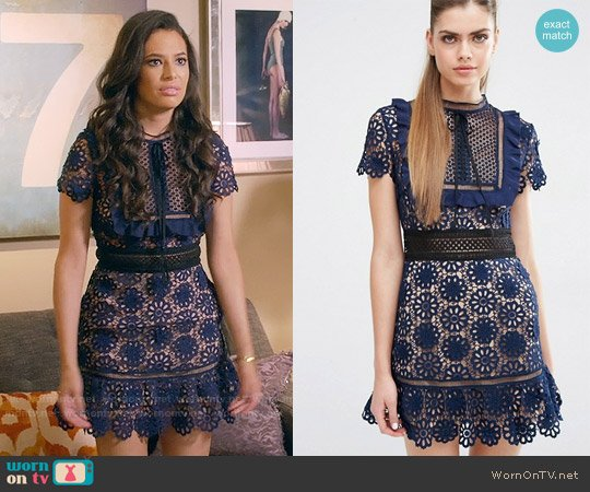 Self Portrait Louisa Dress worn by Kibby Ainsley (Chloe Bridges) on Daytime Divas