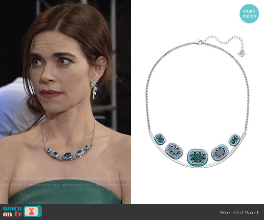 Swarovski Gaia Necklace worn by Victoria Newman on The Young & the Restless