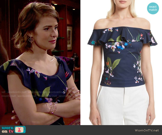 Ted Baker Imygen Top worn by Linsey Godfrey on The Bold & the Beautiful