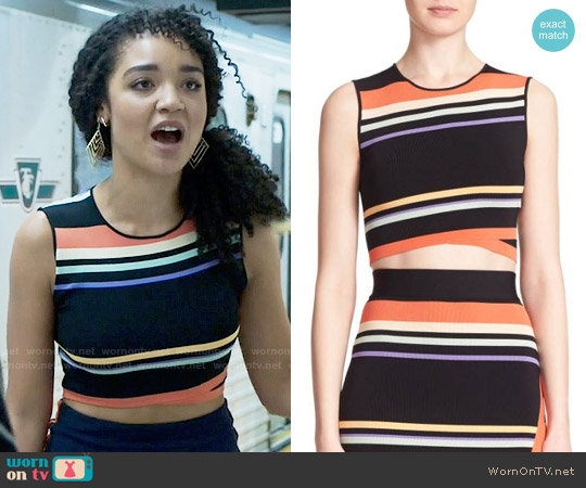 Ted Baker Jeenie Crop Top worn by Kat Edison (Aisha Dee) on The Bold Type