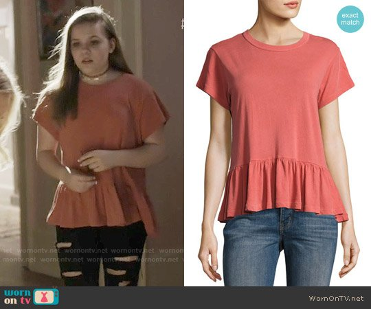 The Great The Ruffle Tee worn by Maisy Stella on Nashville