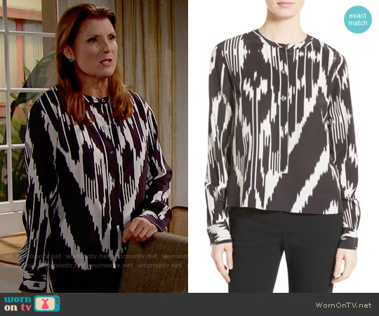Theory Isalva Top worn by Kimberlin Brown on The Bold & the Beautiful