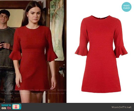 Topshop Fluted Sleeve Dress worn by Maia Mitchell on The Fosters