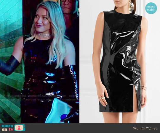 Topshop Unique Patent-leather mini dress worn by Hilary Duff on Younger