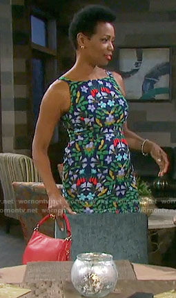 Valerie's floral sheath dress on Days of our Lives