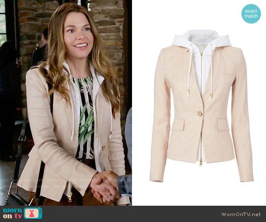 Veronica Beard Beige Hooded Blazer worn by Liza Miller (Sutton Foster) on Younger